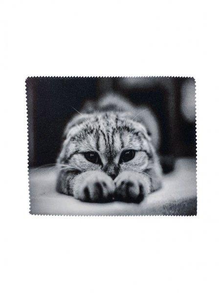 Салфетка микрофибра ч.б. кот