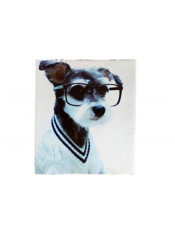 Салфетка для очков с рисунком Собачка