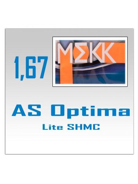 Однофокальные полимерные линзы AS Optima Lite SHMC, ELIXIR (n=1.67)