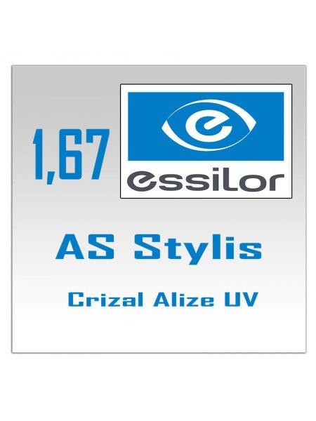 Однофокальные полимерные линзы AS Stylis Crizal Alize+ UV 1.67