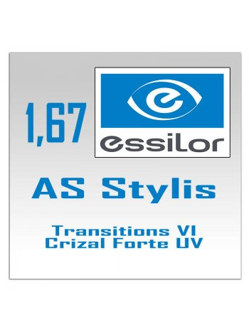 фотохромные линзы 1.67 AS Stylis Transitions VI Crizal Forte