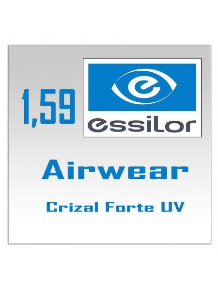 Однофокальные поликарбонатные линзы Airewear Essilor Crizal Forte UV - 1.59