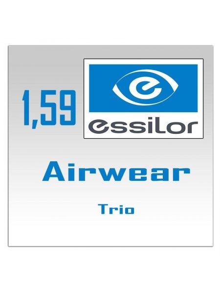 Однофокальные поликарбонатные линзы Essilor Airwear Trio- 1.59