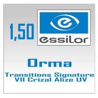фотохромные линзы 1.5 Orma Transitions Signature VII Crizal Alize+ UV