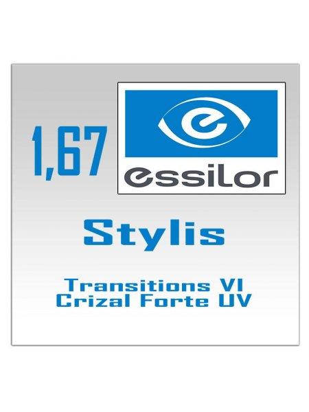 фотохромные линзы  Stylis Transitions VI Crizal Forte UV-1.67