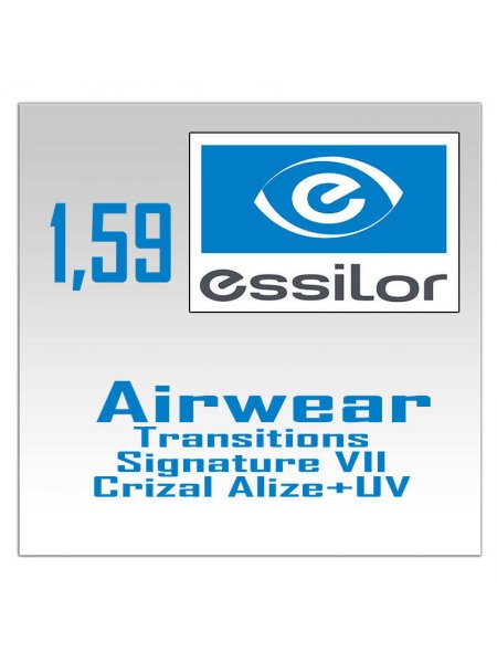 Фотохромные линзы поликарбонат 1.59  Airwear Transitions Signature VII Crizal Alize+ UV
