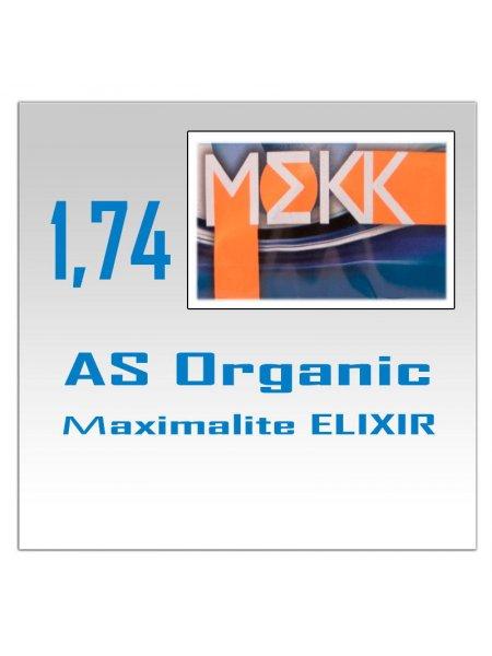 Однофокальные полимерные линзы AS Organic Мaximalite ELIXIR (n=1.74)