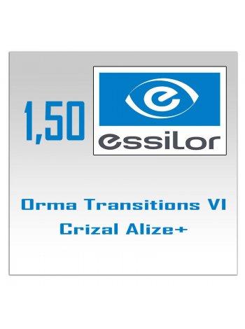 Фотохромные линзы 1.59 Airwear Transitions VI Crizal Alize+ UV