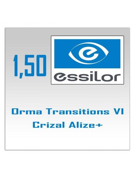 Фотохромные линзы 1.50 Orma Transitions Sign VII Crizal Alize + UV Essilor