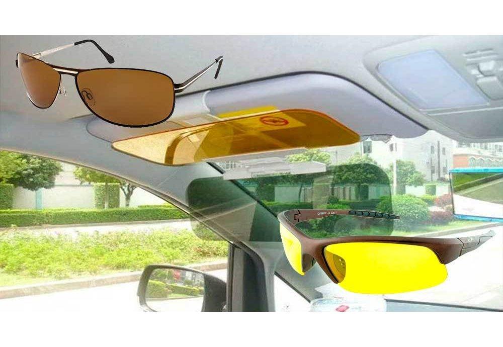 Солнцезащитный козырёк для авто или очки для водителя