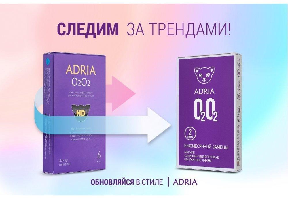 Новый дизайн упаковки линз O2 O2 ADRIA