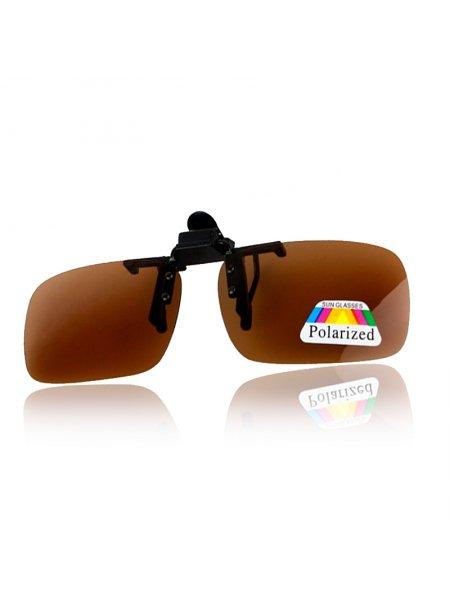 Клипоны на очки коричневые