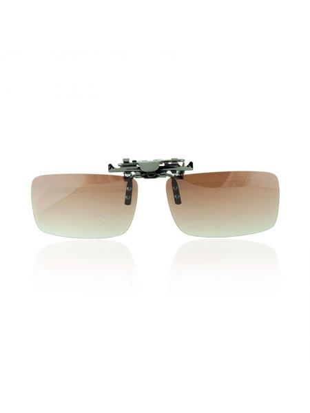 Клипоны на очки коричневые с переходом