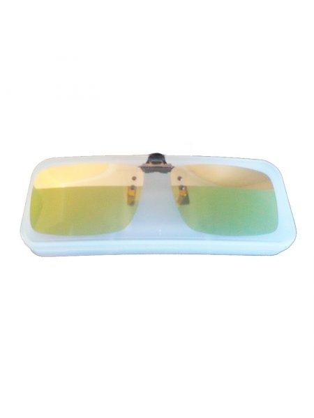 Клипон жёлтый с зеркальной полосой