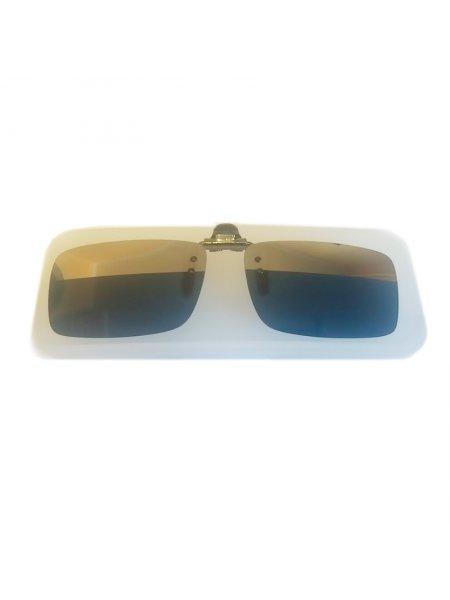 Клипон на очки зеркальные с полосой