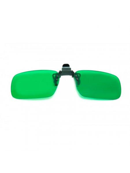 Клипон на очки зелёный (глаукома)
